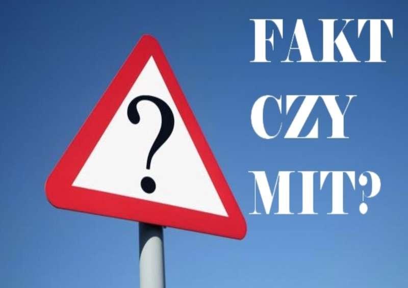Infografika optyka o tytule fakty i mity